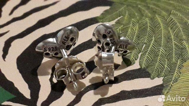 Pandora серьги-гвоздики