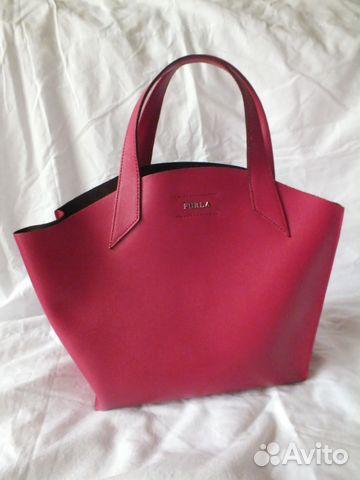 Сумка с перфорацией в стиле Furla, розовая