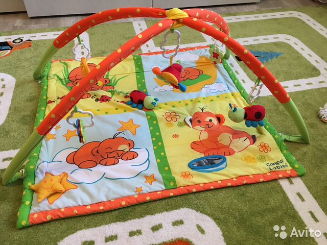 Развивающий коврик для детей до года своими руками мастер класс
