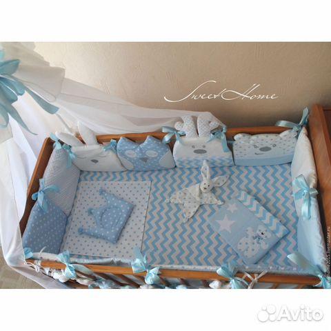 Сшить постельное в кроватку для новорожденных