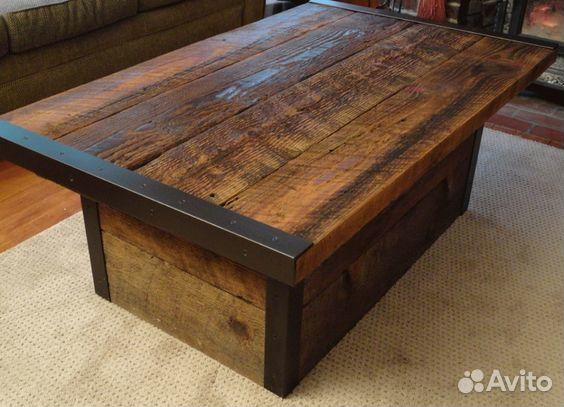 Деревянный стол в стиле лофт своими руками 69