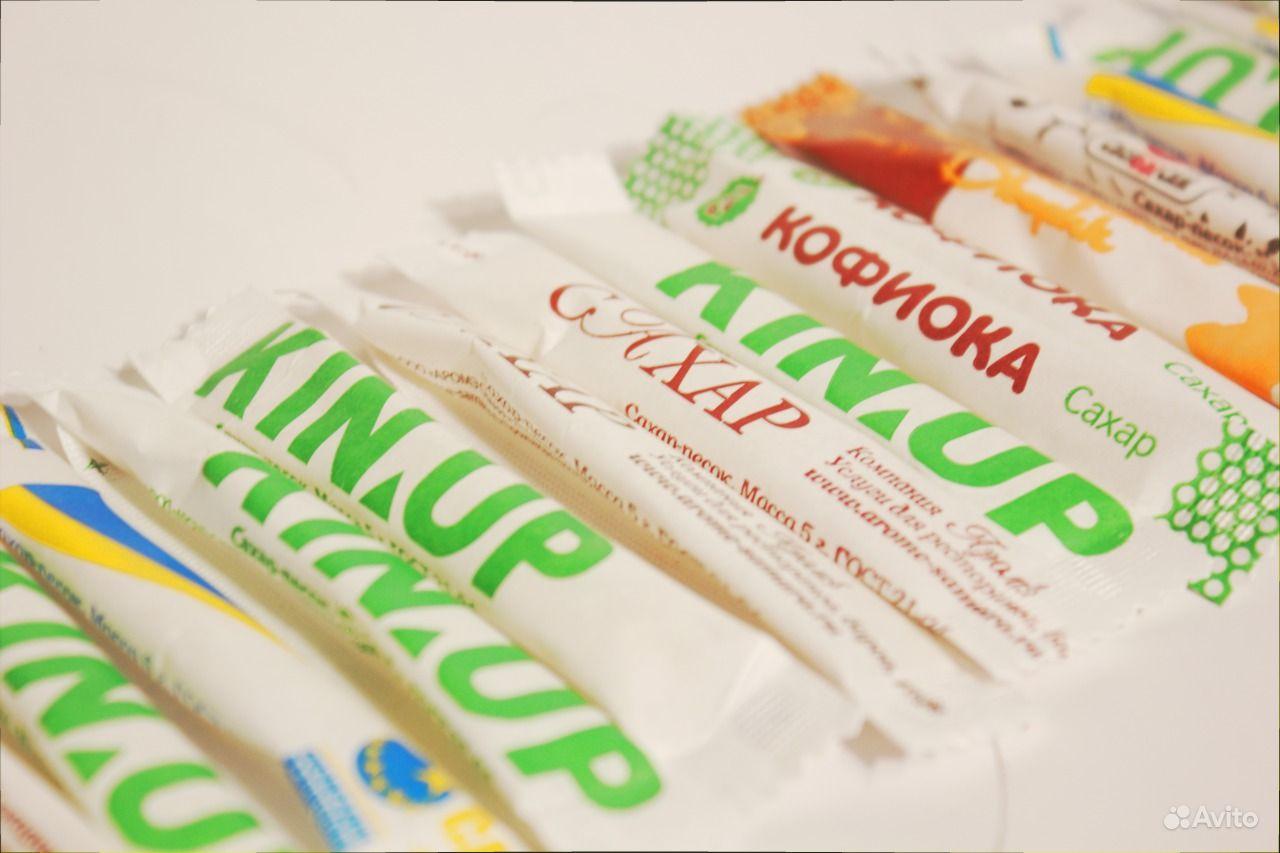 порционный сахар с логотипом: