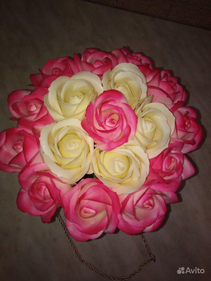 Букет из мыльных роз купить на Зозу.ру - фотография № 1