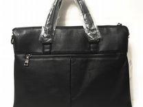 Мужская кожаная сумка -Prada А4.Мужские сумки 51f86c80ef4