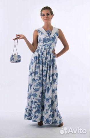 Женская платье гжель