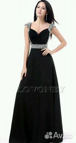 f019bfc1902 Платье вечернее Новое черного цвета. 48 размер