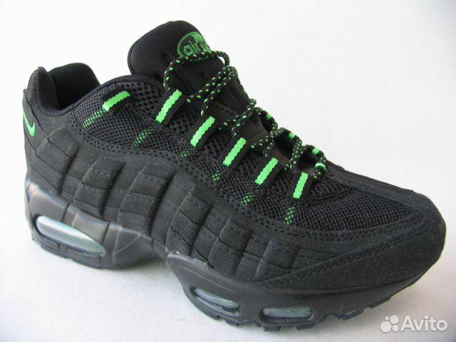4032d40e Кроссовки Nike Air Max 95 черные зелен. вст.43 купить в Санкт ...