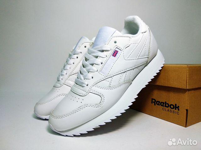 Кроссовки Reebok Classic белые кожаные 36-40 купить в Москве на ... fd1405f8cefc0