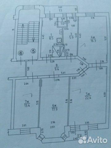 Комната 22 м² в 4-к, 3/4 эт. 89118507413 купить 1