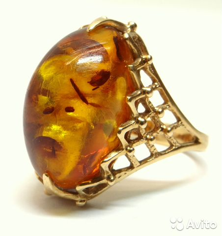 Золотые кольца с янтарем - купить оптом Золотые кольца с янтарем от  российских производителей, цена у поставщиков на ...   480x452