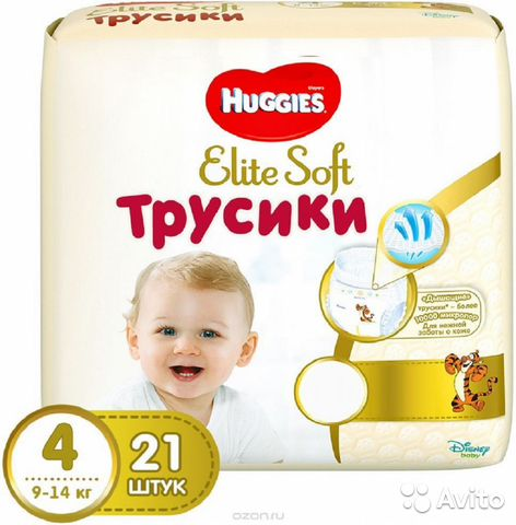 Трусики Huggies Elite Soft 4 (9-14 кг) 21 шт   Festima.Ru ... 6d30866a65f