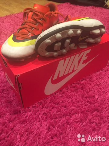 b2d9c8ce Детские Бутсы шиповки Nike Mercurial 33 размер   Festima.Ru ...