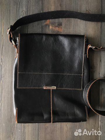 769119a13ca6 Мужская сумка из натуральной кожи Armani black new   Festima.Ru ...
