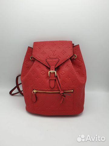74edf0c992d5 Рюкзак женский LV Louis Vuitton кожа red купить в Москве на Avito ...