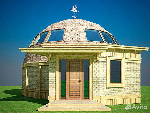 деревянный каркас купольного дома