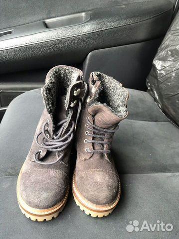 Новые замшевые ботинки С мехом zara 89280678120 купить 5