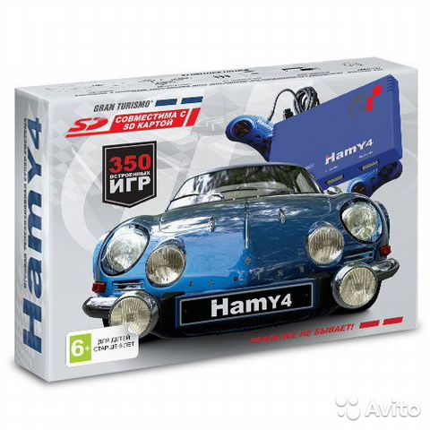 "Sega - Dendy ""Hamy 4"" (350-in-1) Gran Turismo Blue— фотография №1"