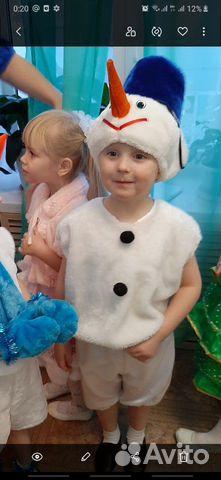Новогодний костюм, снеговичек