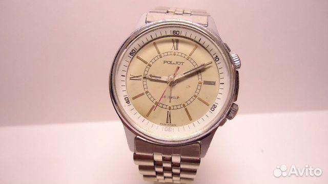 Часы полет с будильником механика браслет СССР купить 2