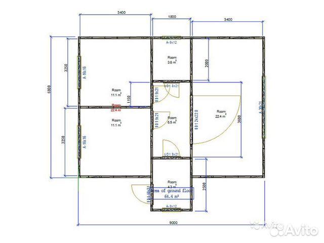 Каркасный дом 63м2 89286683338 купить 6