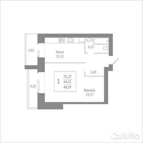 1-к квартира, 48.3 м², 6/14 эт. 89115506177 купить 1