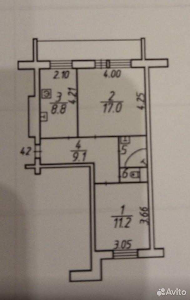 2-к квартира, 49.6 м², 5/5 эт.  89114326878 купить 1