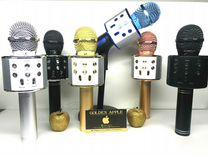Беспроводной караоке микрофон с колонкой WS-858