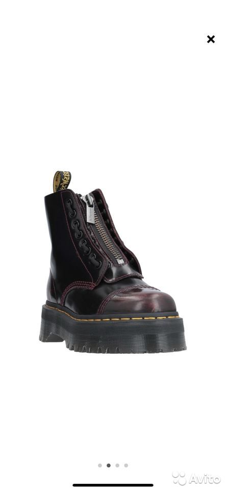 Dr. Martens Sinclair cherry red