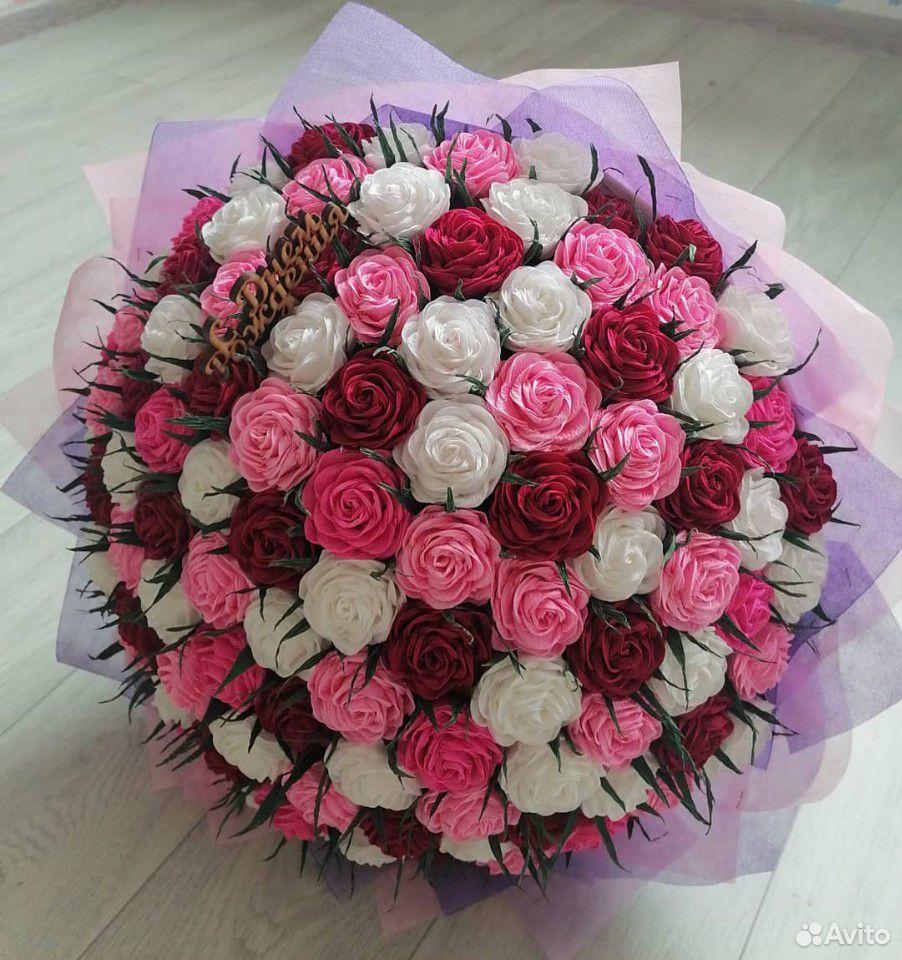 Букет роз из гофрированной бумаги 89519989628 купить 1