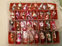 Набор елочных игрушек СССР (55 +7 шт) фигурки
