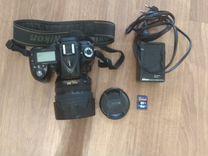 Цифровой зеркальный фотоаппарат nikon d90 + объект