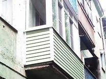 Остекление балкона размером 3 на 2