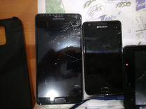 Планшет, телефоны самсунг сломаны экраны, рабочие